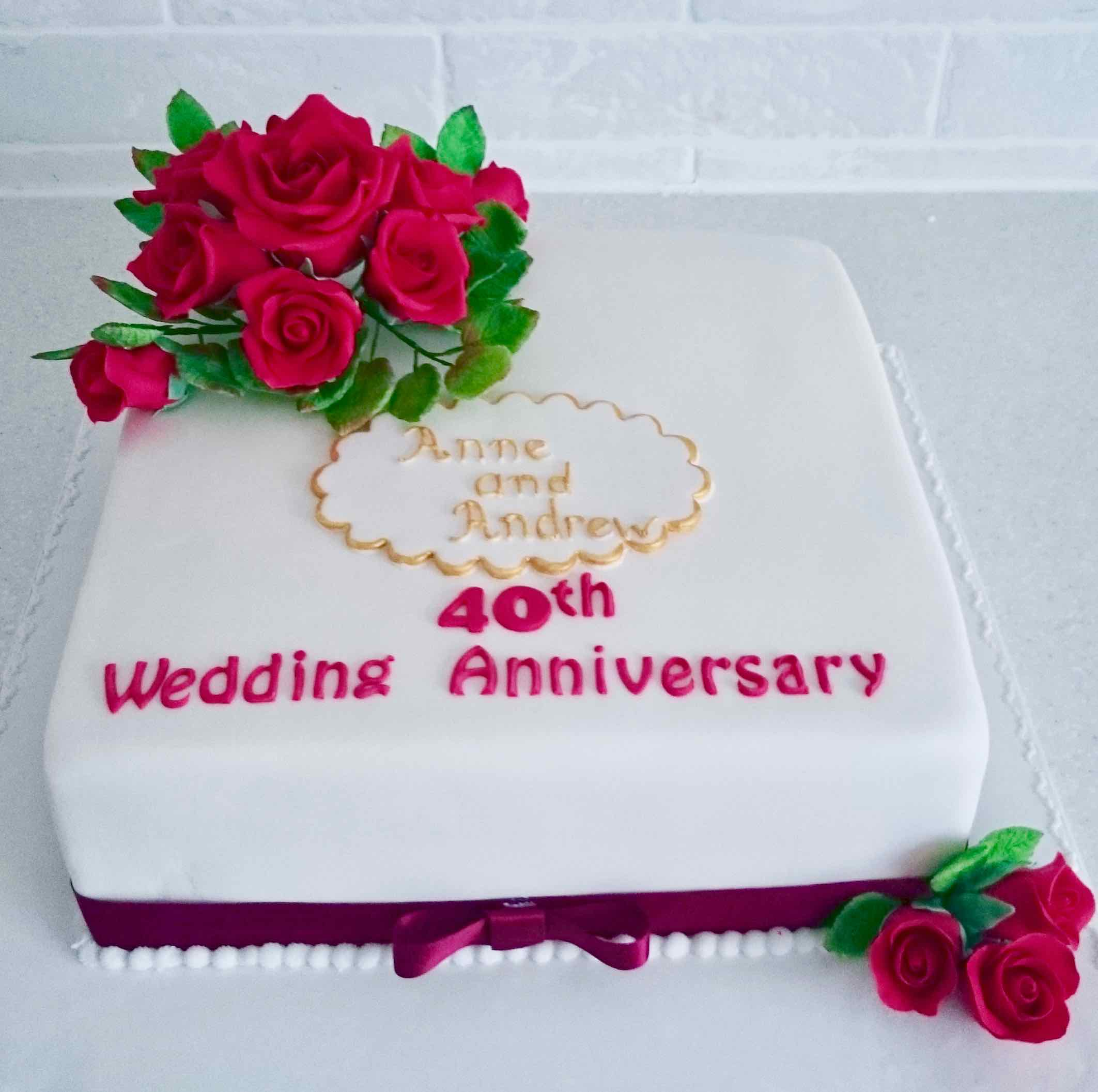 40th wedding anniversary cake by Serendipity Cake Company ...