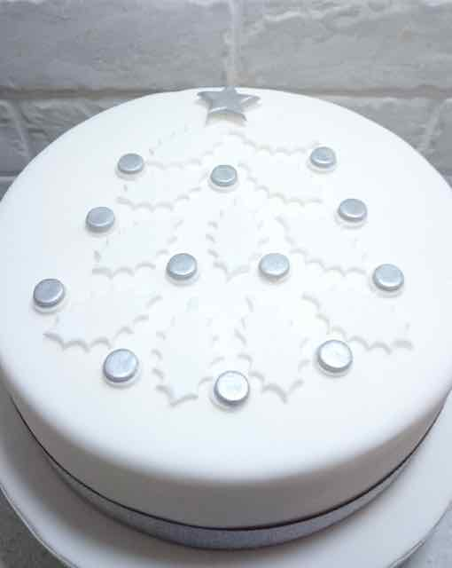 Cake With Tree Decoration