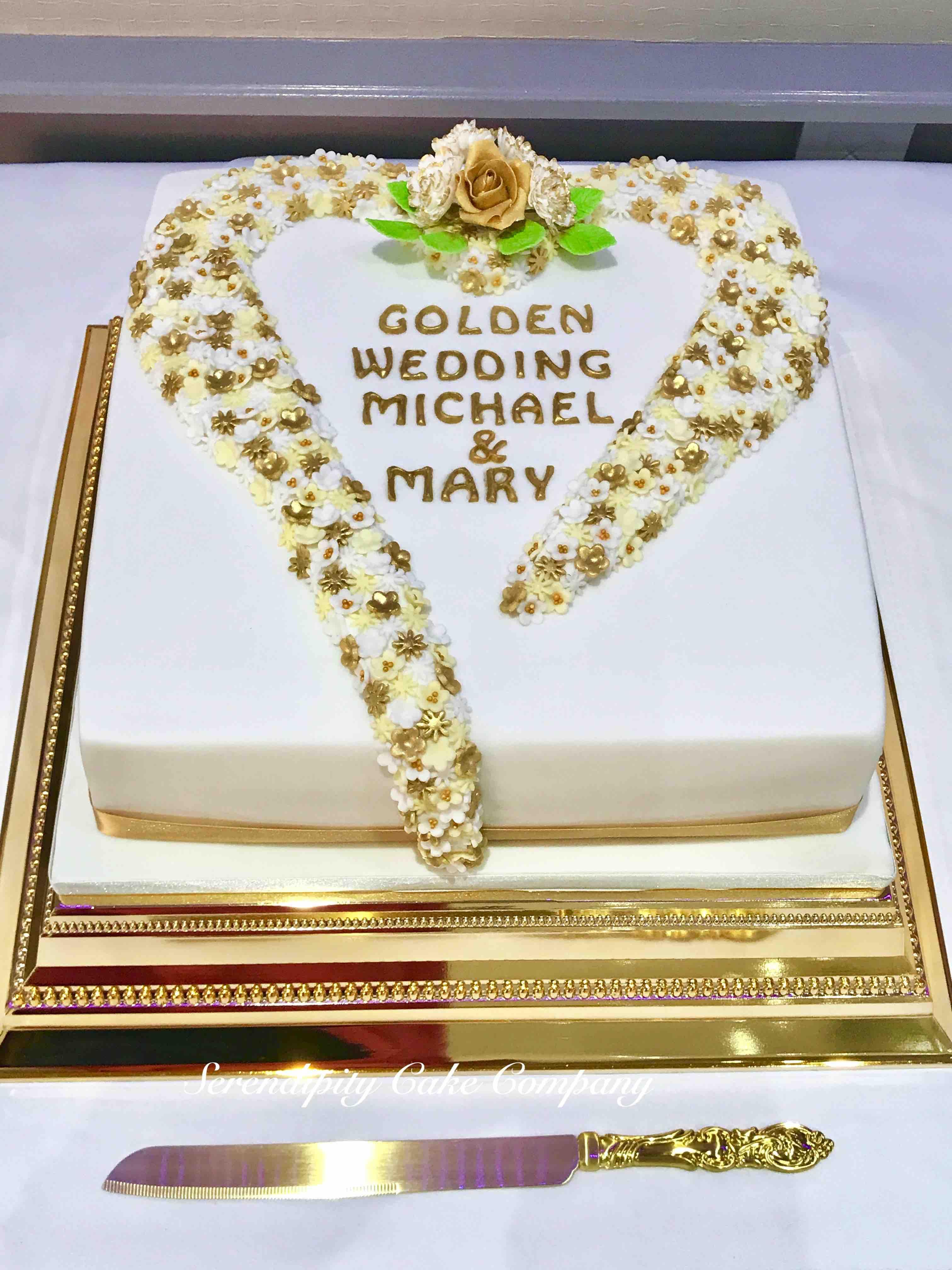 Golden Wedding Anniversary Cake by Serendipity Cake Company ...